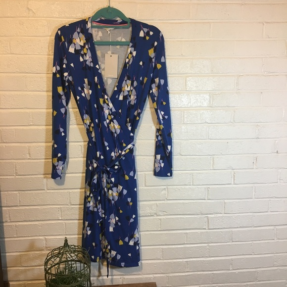 33df1513dc0 NWT Boden Floral Wrap Dress. 6p. Bluebell 🌺
